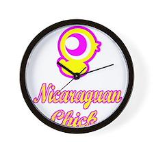 Nicaraguan Chick Wall Clock