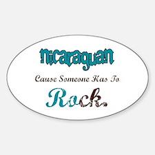 Nicaraguan Rock Oval Decal