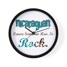 Nicaraguan Rock Wall Clock