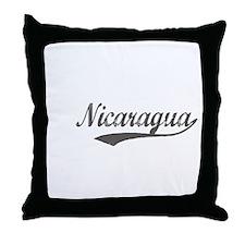 Nicaragua Flanger Throw Pillow