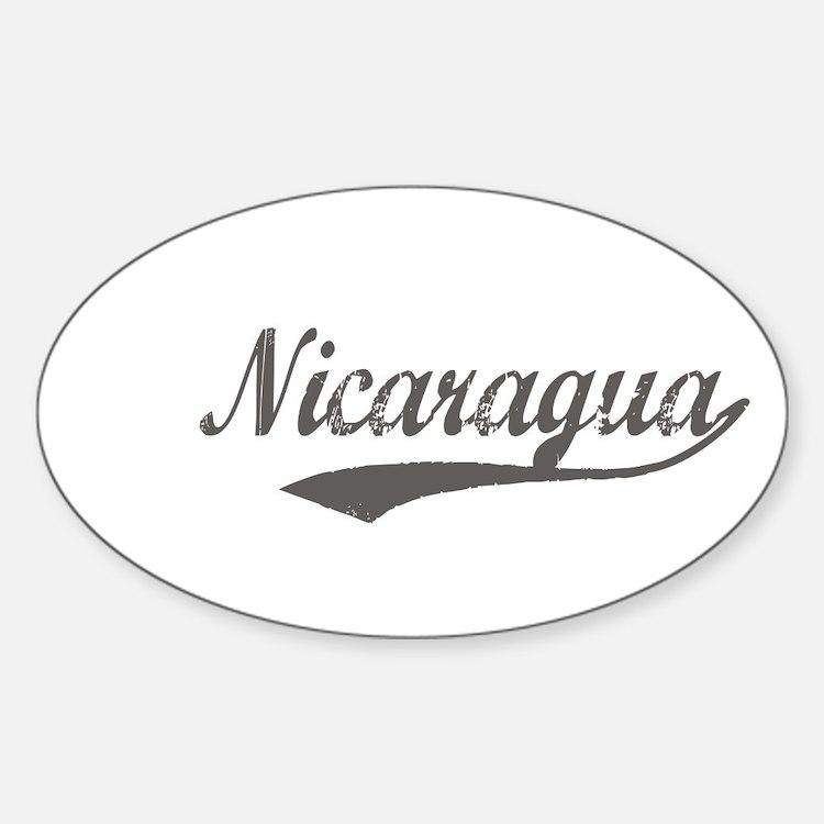 Nicaragua Flanger Oval Decal
