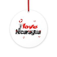 I love Nicaragua Ornament (Round)