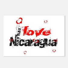 I love Nicaragua Postcards (Package of 8)