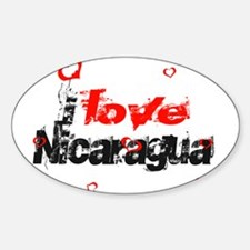 I love Nicaragua Oval Decal