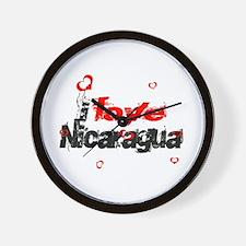I love Nicaragua Wall Clock