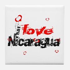 I love Nicaragua Tile Coaster