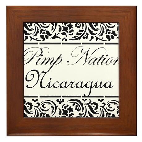 Pimp Nation Nicaragua Framed Tile