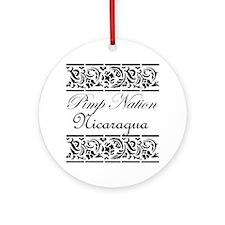 Pimp Nation Nicaragua Ornament (Round)