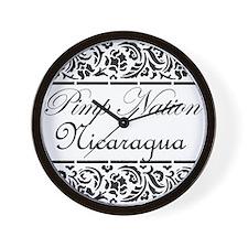 Pimp Nation Nicaragua Wall Clock
