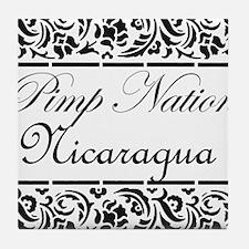 Pimp Nation Nicaragua Tile Coaster