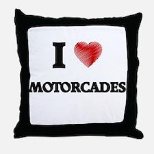 I Love Motorcades Throw Pillow