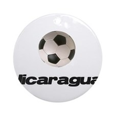 Nicaragua Soccer Ornament (Round)