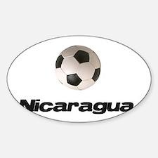 Nicaragua Soccer Oval Decal