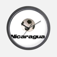 Nicaragua Soccer Wall Clock
