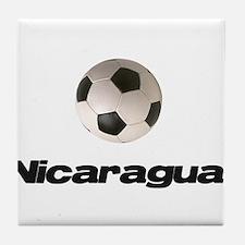 Nicaragua Soccer Tile Coaster