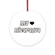Nicaragua Love Ornament (Round)