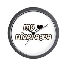 Nicaragua Love Wall Clock
