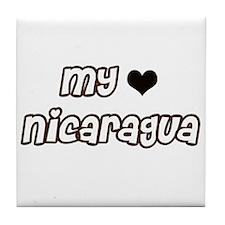 Nicaragua Love Tile Coaster