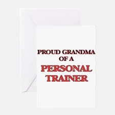 Proud Grandma of a Personal Trainer Greeting Cards