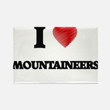 I Love Mountaineers Magnets