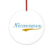 Nicaragua Beach Flanger Ornament (Round)