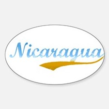 Nicaragua Beach Flanger Oval Decal