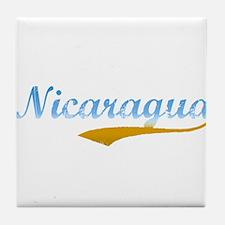 Nicaragua Beach Flanger Tile Coaster