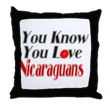 You Love Nicaraguans Throw Pillow