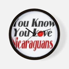 You Love Nicaraguans Wall Clock