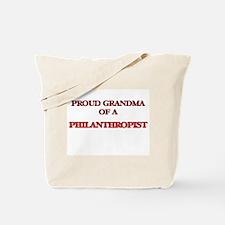Proud Grandma of a Philanthropist Tote Bag