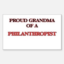 Proud Grandma of a Philanthropist Decal