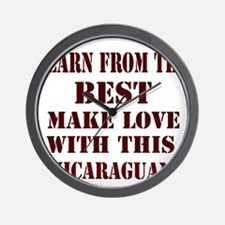 Nicaraguan Love Wall Clock