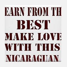 Nicaraguan Love Tile Coaster