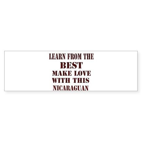 Nicaraguan Love Bumper Sticker