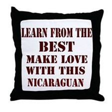 Nicaraguan Love Throw Pillow