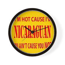 Hot Nicaraguan Wall Clock
