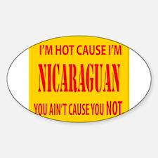 Hot Nicaraguan Oval Decal