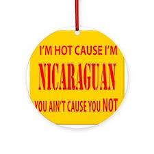 Hot Nicaraguan Ornament (Round)