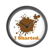 I Sharted (Poop Stain) Wall Clock