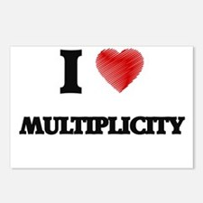 I Love Multiplicity Postcards (Package of 8)