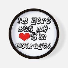 Heart in Nicaragua Wall Clock