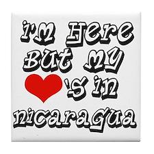Heart in Nicaragua Tile Coaster