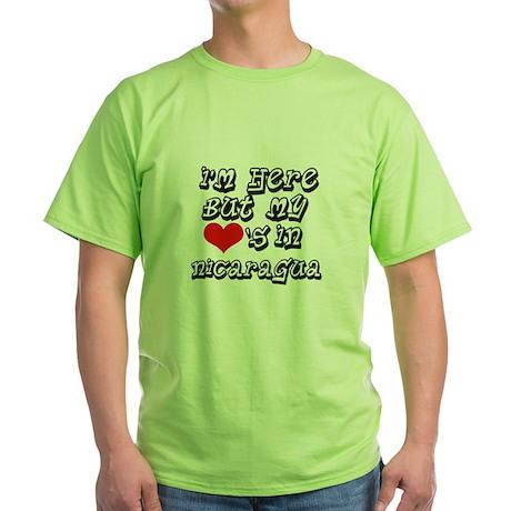 Heart in Nicaragua Green T-Shirt