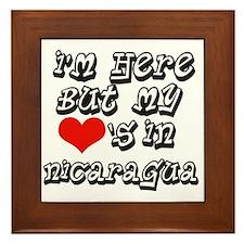 Heart in Nicaragua Framed Tile