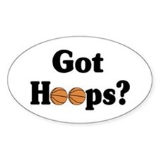 Got Hoops? Oval Decal