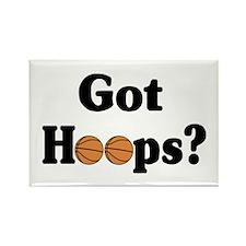 Got Hoops? Rectangle Magnet