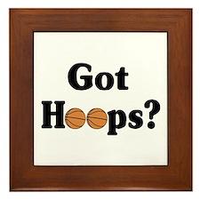 Got Hoops? Framed Tile