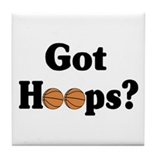 Got Hoops? Tile Coaster