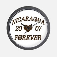 Nicaragua Forever Wall Clock