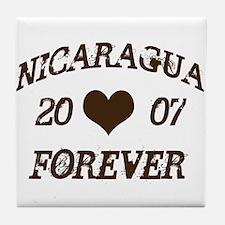 Nicaragua Forever Tile Coaster